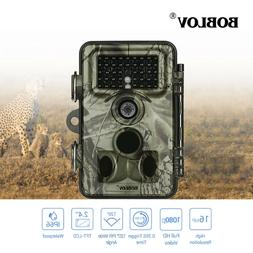 1/2Pcs 16MP Trail Game Camera 8GB Card+Bag 0.35s Trigger Tim