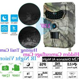 1080P HD 12MP Hunting Trail Camera Video Wildlife Scouting I