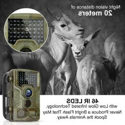 1080P HD 16MP Hunting Trail Camera Wildlife Scouting IP65 IR