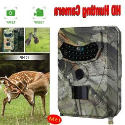 1080P HD Hunting Trail Camera Outdoor Wildlife 12MP Scouting
