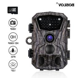 BOBLOV 16GB Hunting Camera 18MP 120° Night Vision Outdoor T