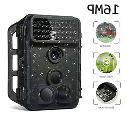 Trail Camera 16MP 1080P Full HD IR Night Vision Motion Activ