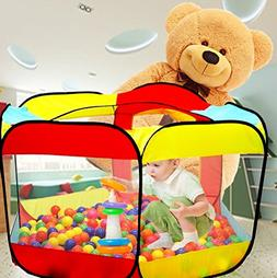 WER Ball Pit Play Tent for Kids - 6-Sided Playhouse for Chil