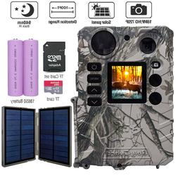 Boly Trail Camera Deer Hunting Game Cam Solar powered 18MP I