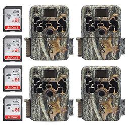 Browning Dark OPS HD 940 Micro Trail Game Camera  - 4 Pack w