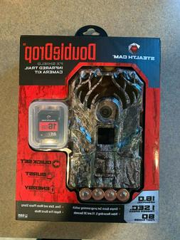 Stealth Cam DoubleDrop 16MP Trail Camera - Batteries + SD Ca