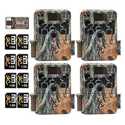 Four Browning Strike Force HD 850 Trail Cameras  with 8X 8GB