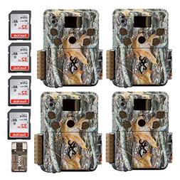 Four Browning Strike Force PRO Micro Trail Cameras  with Fou