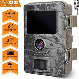 AGM Game Trail Camera, 16MP 1080P Wildlife Camera IP66 Water