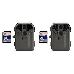 Stealth Cam 8MP Infrared Game Camera with Video, 2 Pack + SD