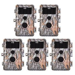5-Pack 16MP 1920x1080P Video Game Trail Cameras Wildlife Dee