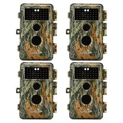 BlazeVideo 4-Pack No Glow Infrared Trail Hunting Game Camera