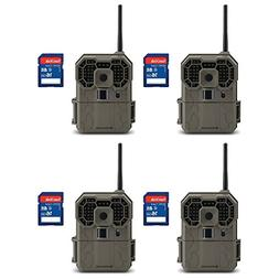 Stealth Cam GXW 12MP Wireless Game Camera, 4 Pack with 16GB
