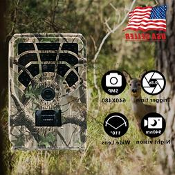HD Hunting Trail Camera-Waterproof Monitoring Red Infrared I