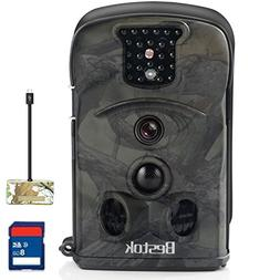 Bestok Wildlife Camera HD 12MP 120° Trail Game Camera with