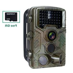 FLAGPOWER Hunting Trail Camera, 16MP 1080P 0.2-0.6s Trigger