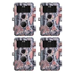 BlazeVideo 4-Pack Hunting Trail & Game Cameras 16MP 1080P Vi