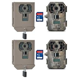 Stealth Cam G42NG 10MP Game Camera, 2 Pack with Cases & SD C