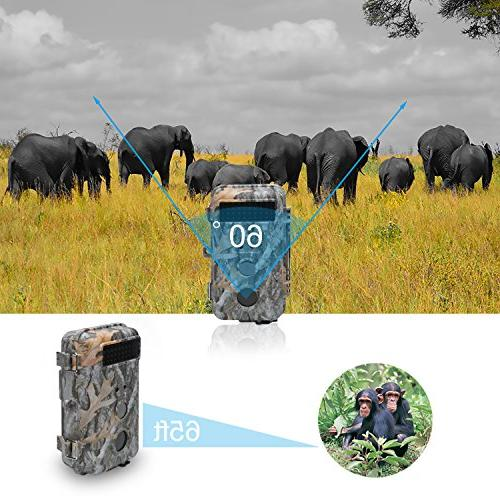 DIGITNOW HD Wildlife Hunting Scouting Surveillance Camera IR LED Vision Up to 65FT