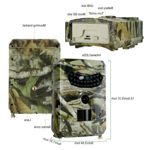 1080P HD Trail Camera Video Scouting Night Vision