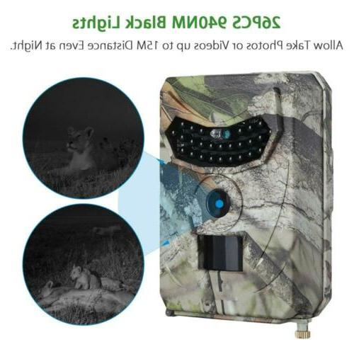 1080P HD Hunting Trail Camera Video Wildlife Scouting Infrared