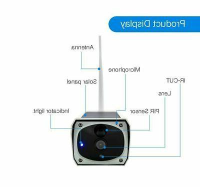 1080P Outdoor Solar Powered WiFi Cam