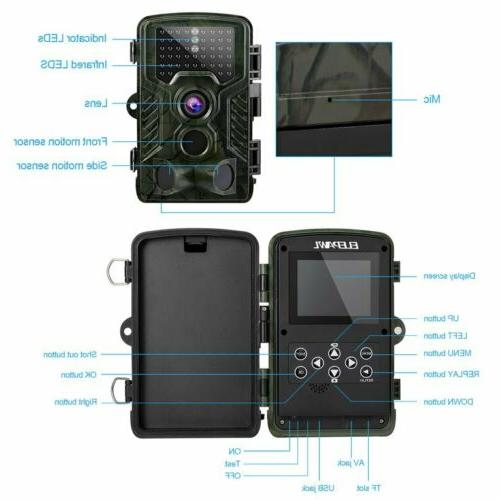 16MP IP66 Waterproof Outdoor Hunting with IR Led Night Vision