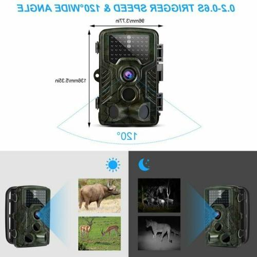 16MP Camera Waterproof Hunting with Night Vision