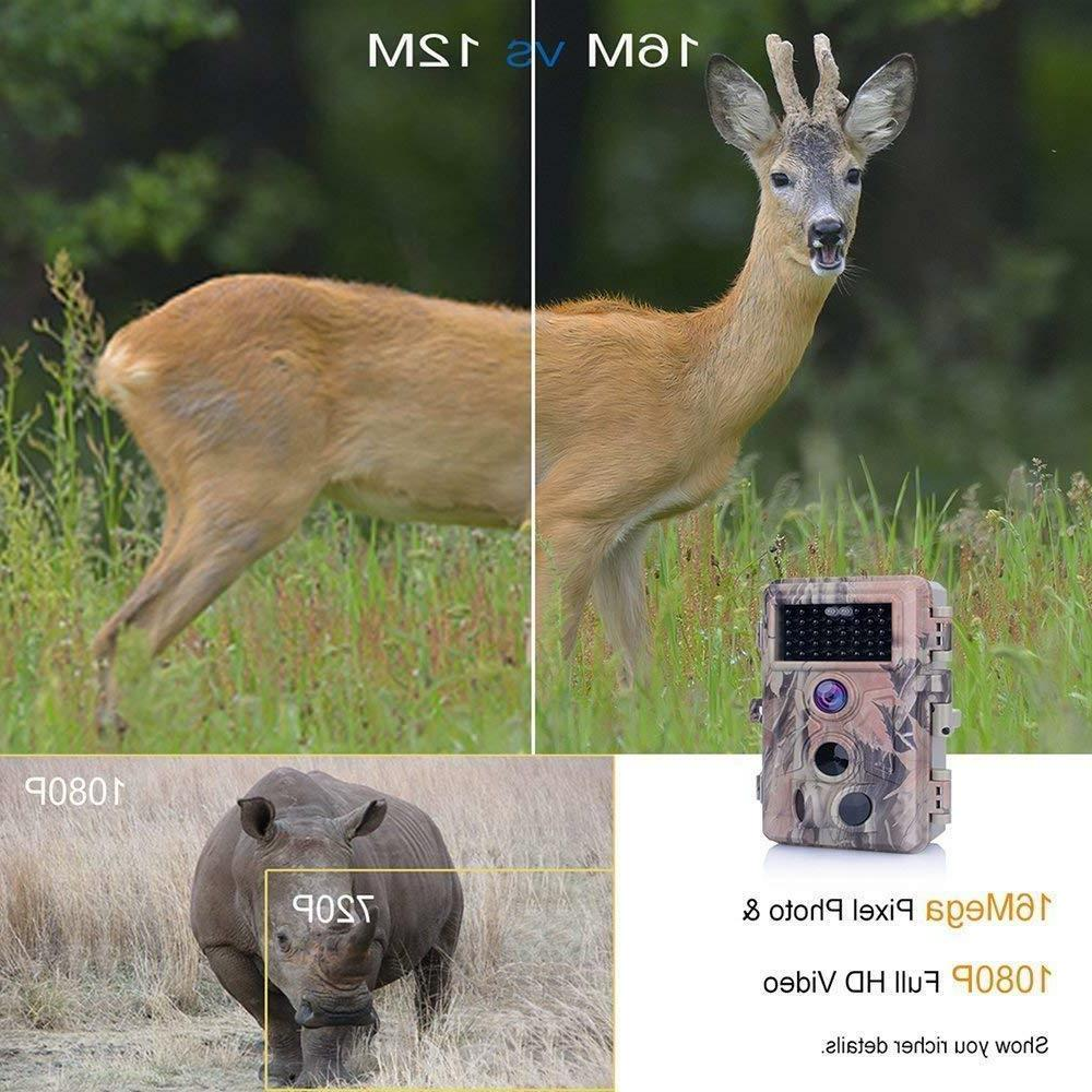 Wildlife Trail Game Camera 16MP Infrared Vision Hunting