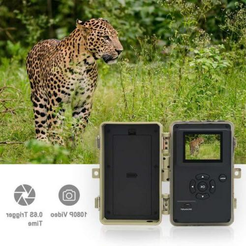 16MP 1080P Infrared Vision Wildlife Hunting Game