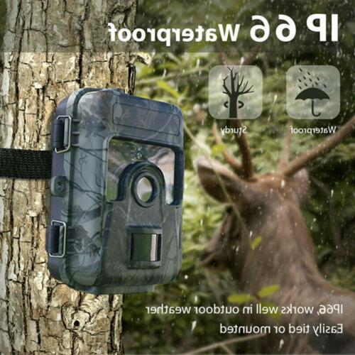 16MP Trail Camera Waterproof Outdoor with Led Vision