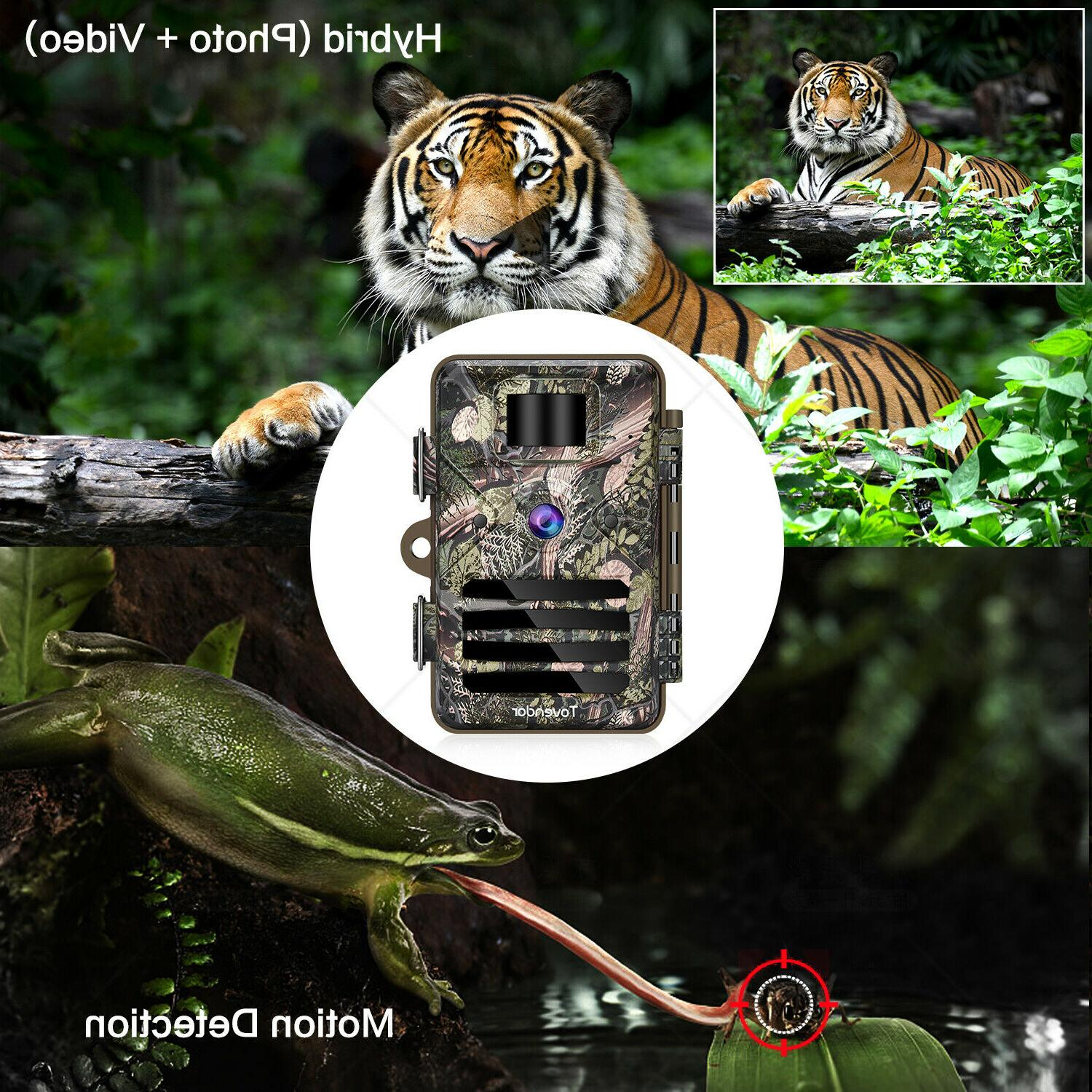 16MP Trail Waterproof Wildlife Hunting Cam with Night Vision