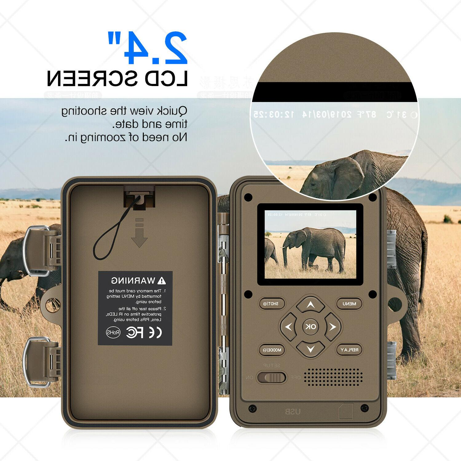 16MP Trail Waterproof Wildlife Cam with No Vision
