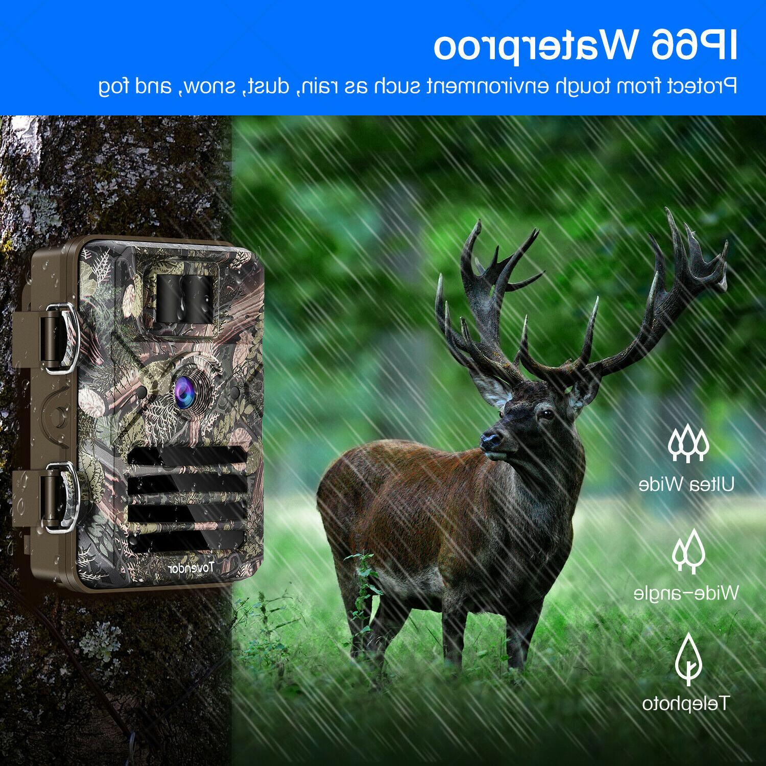 16MP Trail Camera Waterproof Wildlife Hunting Cam with Vision
