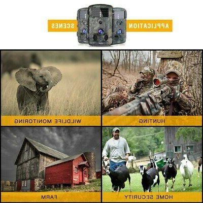12MP Trail Deer Bear Hunt Cam Low Motion Activated