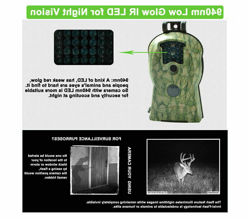 2PCS Trail Camera 14MP FHD IR Hunting Scouting Wildlife