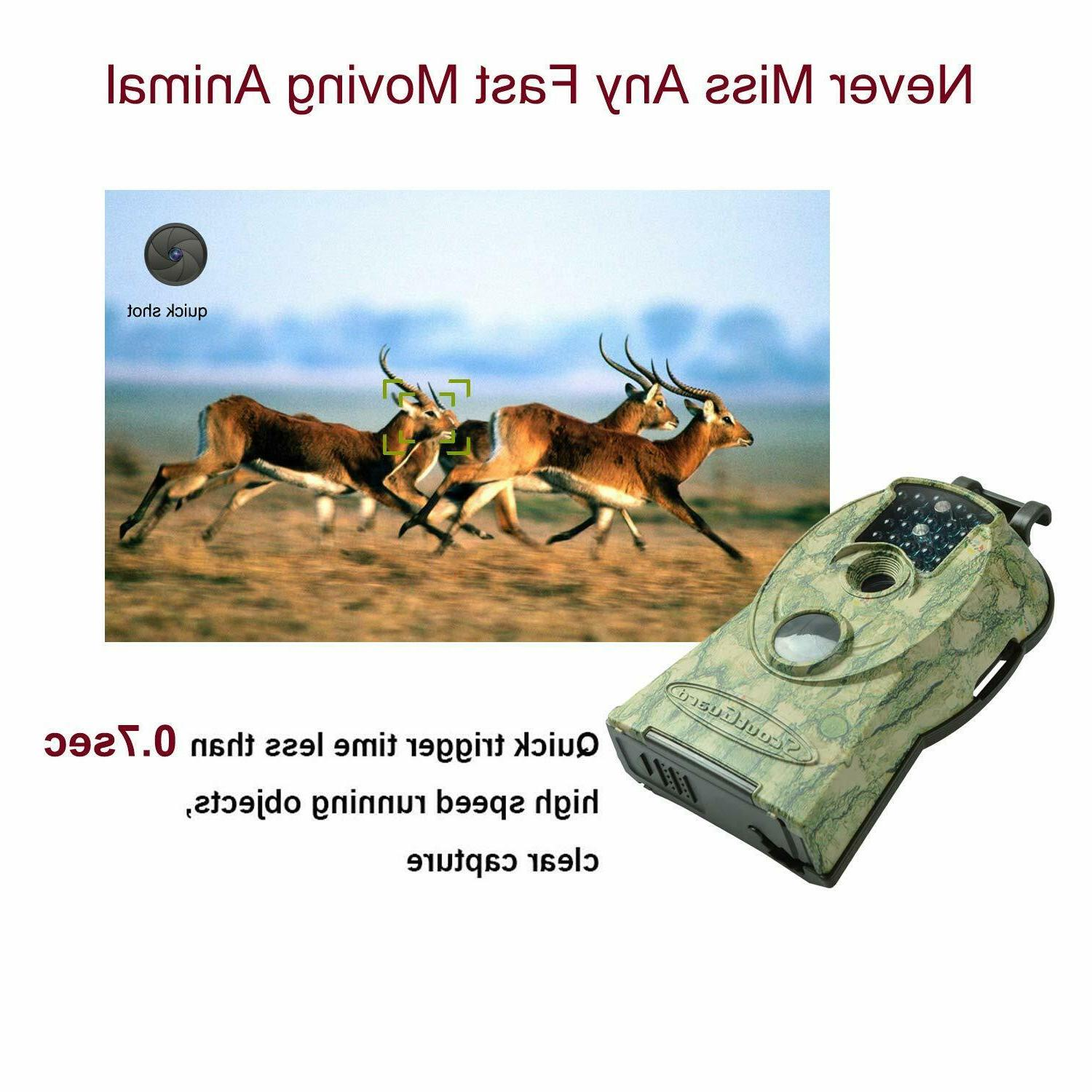 2PCS Trail 14MP 1080P IR Scouting Wildlife