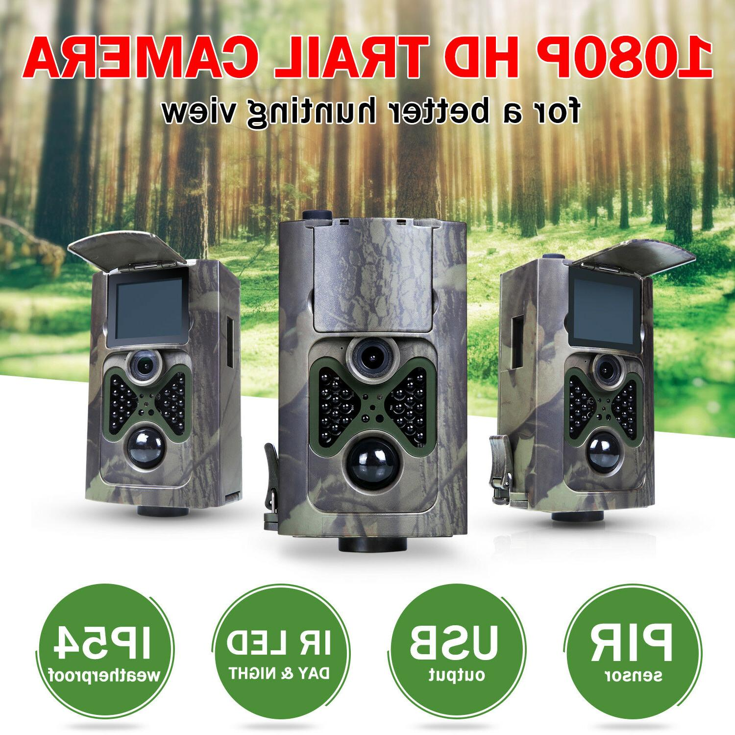 3 1080p 12mp hunting trail camera security