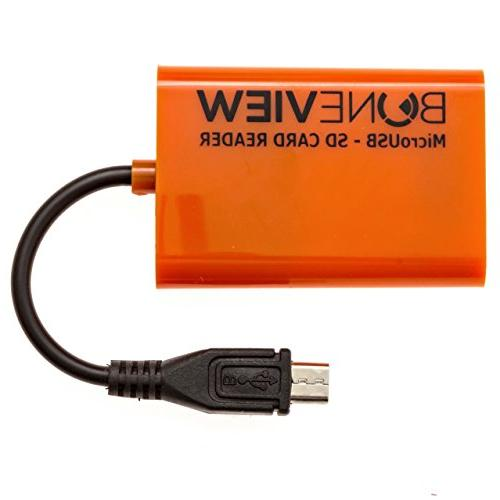 BoneView Micro SD Memory Camera Viewer Micro-USB Type-C Smart to View Deer Hunting Photo & USB-C Included