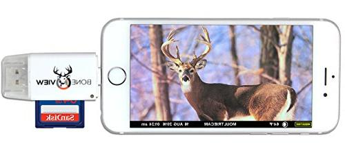 Reader for iOS, Trail Cam Viewer Deer Scouting Video & Memory iPad 5, X Lightning Extender &