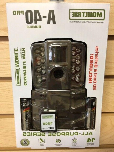 New 2018 Moultrie A-40 Pro Bundle 14 MP Infrared Game Trail