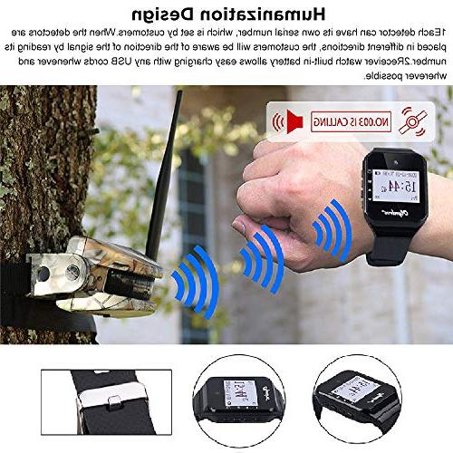 Olymbros Animals Alarm System Long Motion Detector&Sensor Sound/Vibration/Visual Three Hunting/Camping/Home Security