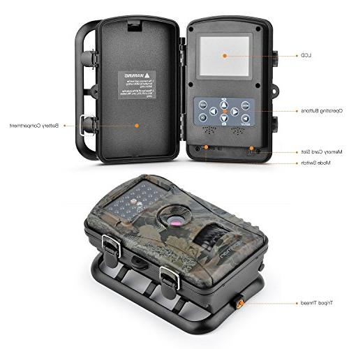 APEMAN Camera Game with Night LCD Screen, IP54 Spray Water Protected design