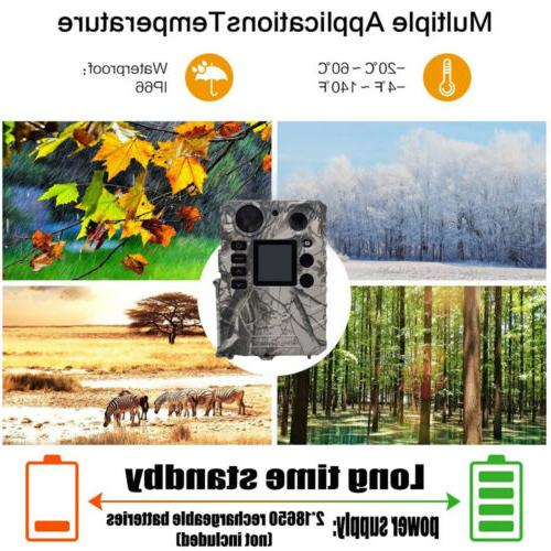 US Camera Hunting Game Cam no glow Video/Audio Solar Powered