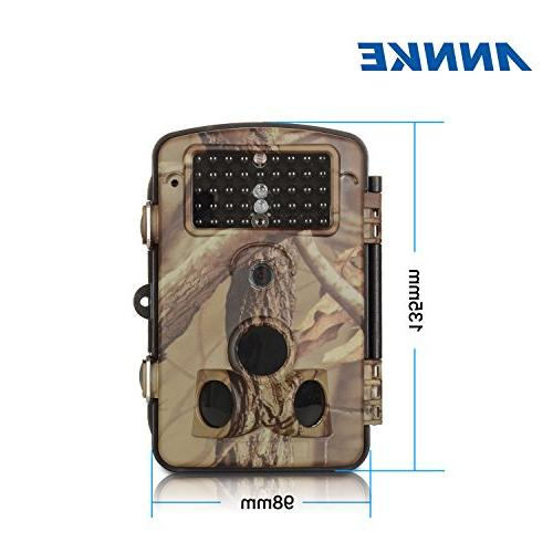 ANNKE C303 720p Game and Trail Camera with IR Vision LEDs, Angle 2.4-Inch LCD and Weatherproof Housing