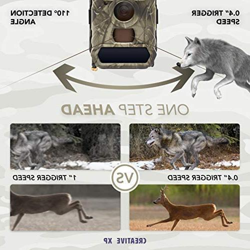 CreativeXP Cellular Trail Cameras AT&T WiFi Full HD Wild Game Camera Night Vision for Hunting, Security   Motion Mount Accessories Included