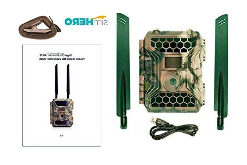LTE Camera 1080P / Camera with Screen Multi Network Easy Set Up Card   Cellular Game Camera