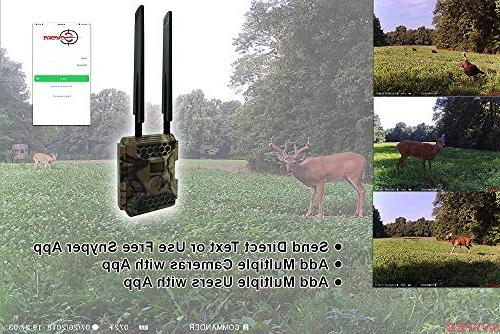 """New Snyper Commander 4G 1080P 12MP Trail 2"""" LCD Screen Card   Cellular Trail Camera/Security Camera   56"""