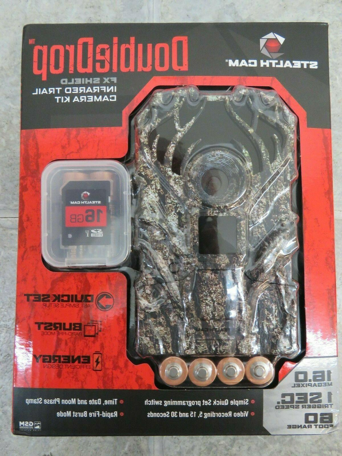 doubledrop ir trail camera package 16mp stc