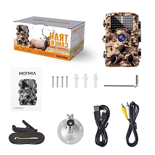 "AIMTOM 1080P Game Camera 0.2S Fast Time 2.4"" LCD Screen 65 Flash Range Trail Hunting Scouting Ghost Stealth Observation Monitor"